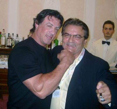 Sylvester Stallone con l'indimenticato Franco Catullè grande manager della IAE