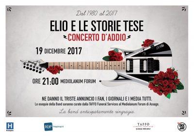 ELIOELESTORIETESE Locandina concerto d'addio