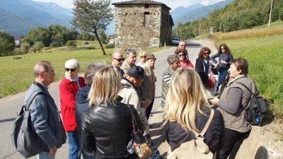 Il gruppo CATA nella recente visita a Teglio alla scoperta del grano saraceno