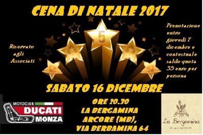 Ducati Monza Locandina Cena Natale 2017 (2)