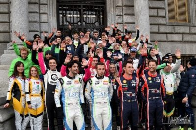 Rally di Monza piloti alla partenza