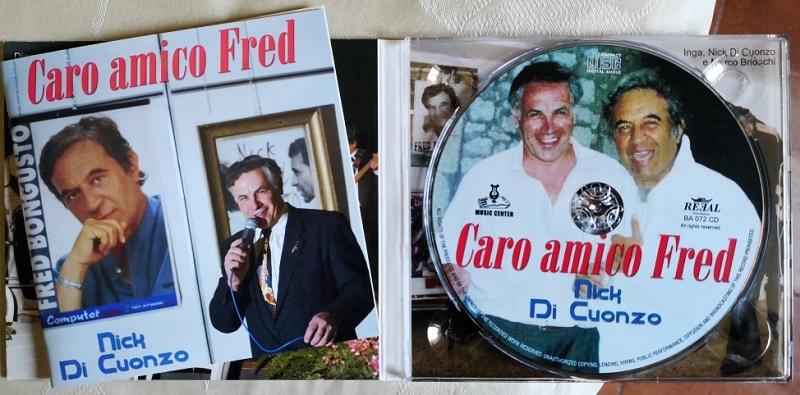 Nick Di Cuonzo la copertina del CD dedicato a Fred Bongusto