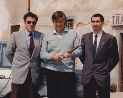 Nick Di Cuonzo (a sinistra) con il grande arbitro Agnolin